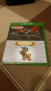Xbox 1 games gears of war and rare replay