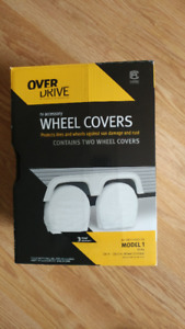 RV wheel covers fit 24 to 26.5 in. dia.