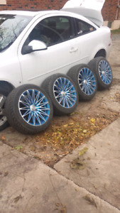 """5x110 17"""" inch rims 205/50R17 brand new tires"""