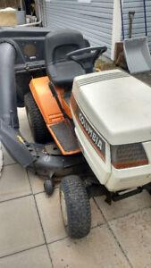 Tracteur à gazon colombia 18hp deux cylindre avec sac pour gazon