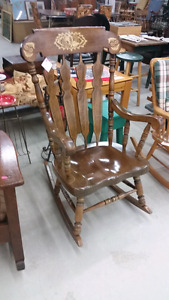 Large Solid Wood Rocking Chair for Sale
