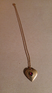 Vintage Heart Locket and chain