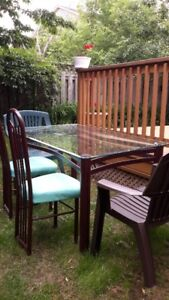 Glass Table with