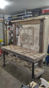 Rustic Barn Wood Potting Bench