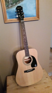 Epiphone Acoustic Guitar and Case