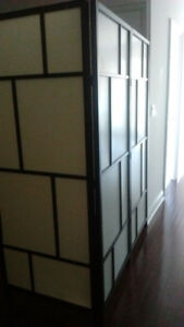 IKEA ROOM DIVIDER/ SCREEN - AS IS - TWO Together