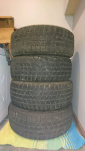 "Blizzak 205/55R16 91T winter tires, on 16"" stock VW rims"