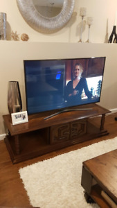 Solid Wood TV stand & 2 end tables