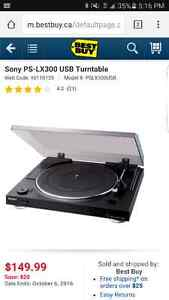 Sony PS-LX300 USB turntable record player