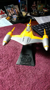 "STAR WARS ""Naboo Fighter""  ACTION FLEET 1998 WITH    STAND AN"