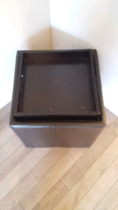 Storage ottoman/ side table/ seat