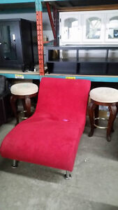 New red chaise lounger - delivery Available