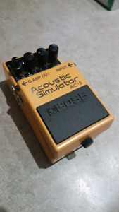 BOSS Acoustic Simulator pedal for sale, slightly used.