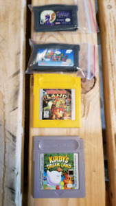 Gameboy and Gameboy advanced games
