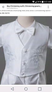 Baby boys christening/baptism outfit