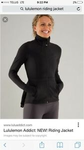 Lululemon riding jacket size 4-6