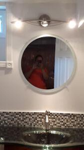"""36"""" bathroom vanity/sink/faucet/mirror and light fixture"""
