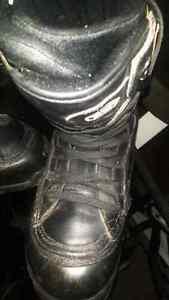 drill leathwr snowboard boots men's 11 black,mint