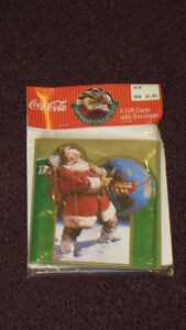 1993 Unopened Pack of 5 Coca-Cola Gift Cards with envelopes