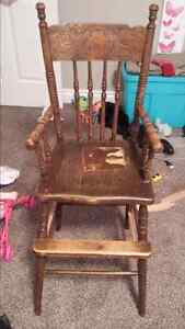 Vintage pressback high chair