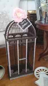 Rustic Wedding Money Box- Bird Cage