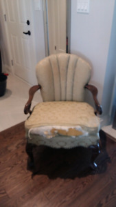 Vintage  open arm chair