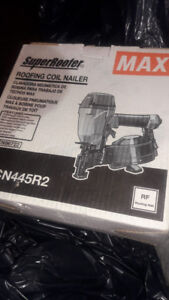 MAX SUPER ROOFING COIL NAILER - IN THE BOX NEVER BEEN USED