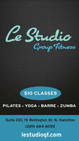 LE STUDIO GROUP FITNESS  $10 CLASSES !!