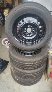 Cooper Weather Master S/T 2 Snow tire on Brand New Steel  Rims