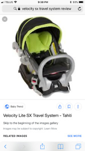 Baby trend carseat with base