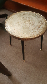 Vintage Moroccan Side Table with dansette legs (removable)