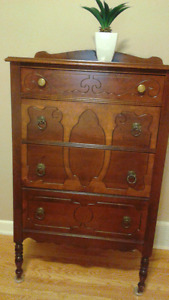 Antique dresser and chest of drawers