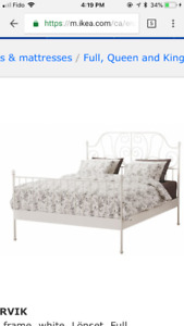 Double size bed from Ikea