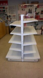 Steel display shelving unit