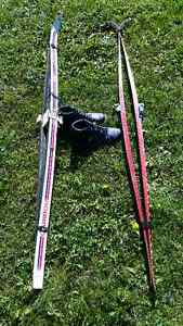 XC skis and boots (11)both wax and waxless