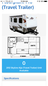 2012 Aljo Skyline 140 Travel Trailer