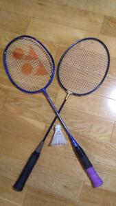 Badminton rackets Yonex + Black Knight