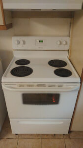 "30"" white stove for sell"