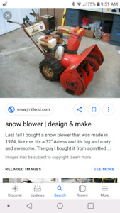 Looking for old lawn mowers and snowblowers