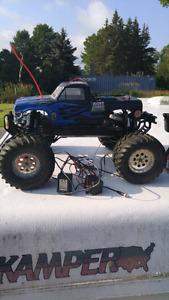 Nitro powered RC monster truck