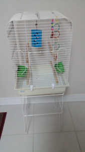 big bird cage with stand good condition
