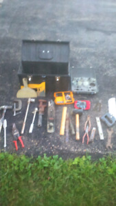 Shop tools and tool box