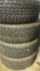 Firestone winterforce tires on rims 205/55R16s