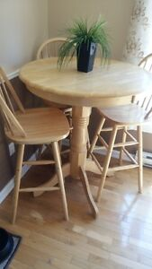 4 pc...Bar style table and chair