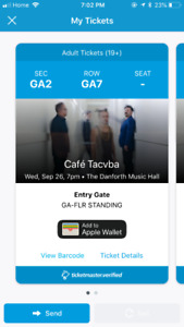 Cafe Tacuva Tickets!