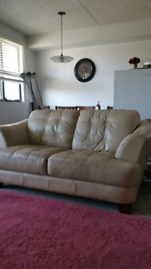 3 PCS REAL LEATHER COUCHES..IN GOOD SHALE