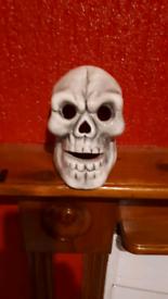Porcelain skull light candle ornament