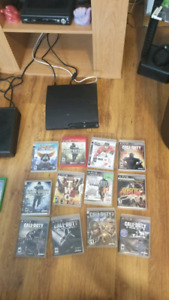 Playstation 3 slim with games cash only