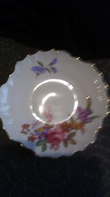 ADDERLEY OF ENGLAND FINE CHINA FLORAL PLATE