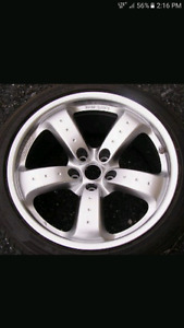 Rays forged rims with tires